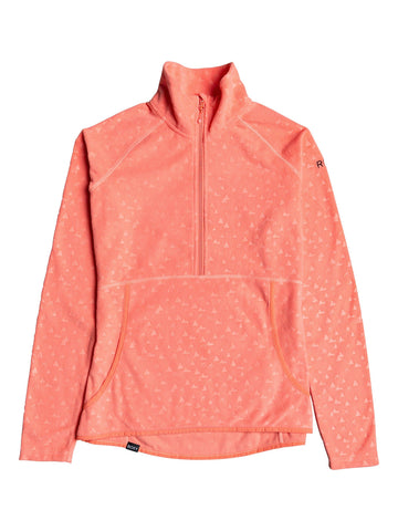 Roxy Cascade Womens Fleece in Living Coral