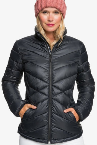 Roxy Sunset Water Resistant Insulator Jacket for Women in True Black Style: ERJBP04204-KVJ0