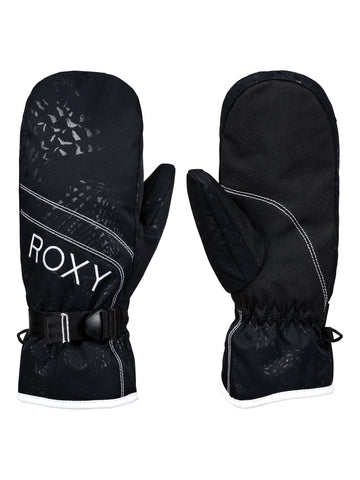 Roxy Jetty Solid Mitten Glove in Ture Black