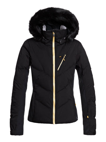 Roxy Snowstorm Plus Womens Ski Jacket in True Black