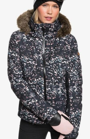 Roxy Snowstorm Snow Jacket for Women in True Black IZI Style: ERJTJ03257 - KVJ5