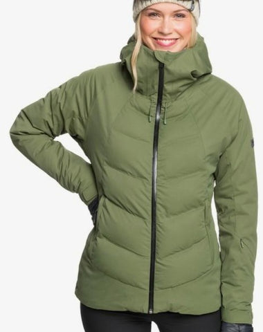 Roxy Dusk Snow Jacket for Women in Bronze Green Style: ERJTJ03258- GQQ0