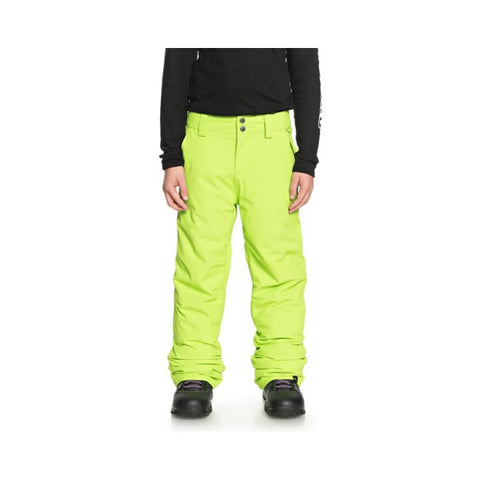 Quiksilver Estate Snow Pants for Boys 8-16 Lime Green