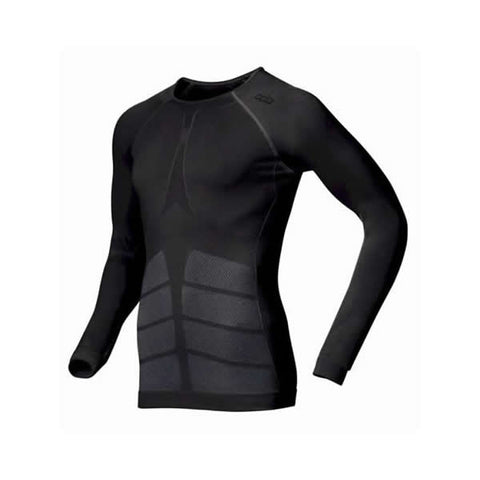 Odlo Mens Evolution Warm Thermals L/Sleeve Crew Neck Top Black