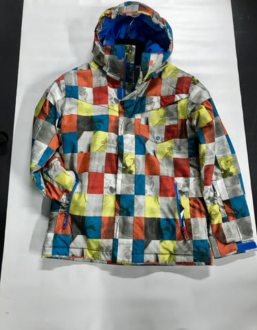 Quiksilver Mission Printed Boys Ski Snow Jacket Mandarin Red