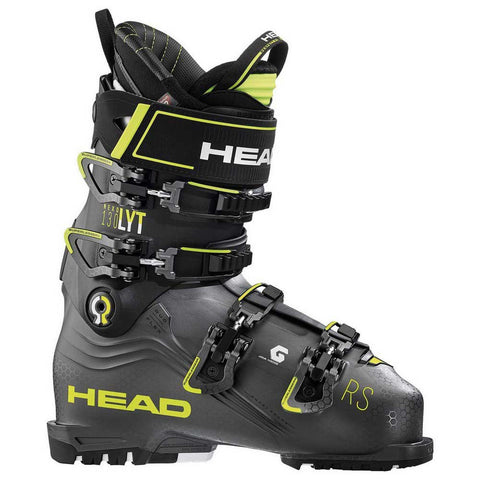 Head Nexo LYT RS 130 Men's Ski Boot in Anthracite and Yellow