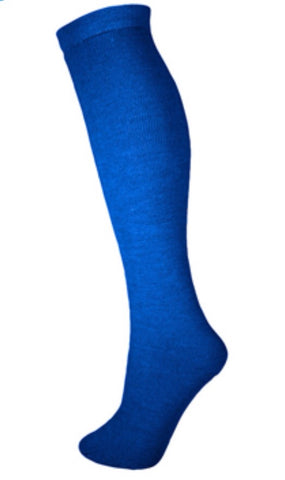 Kids Thermal Ski Snowboard Tube Sock Royal Blue