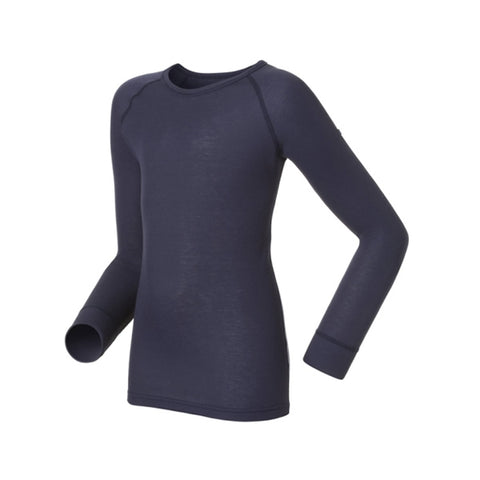 Odlo Kids Warm Thermal Long Sleeve Crew Neck Top Black