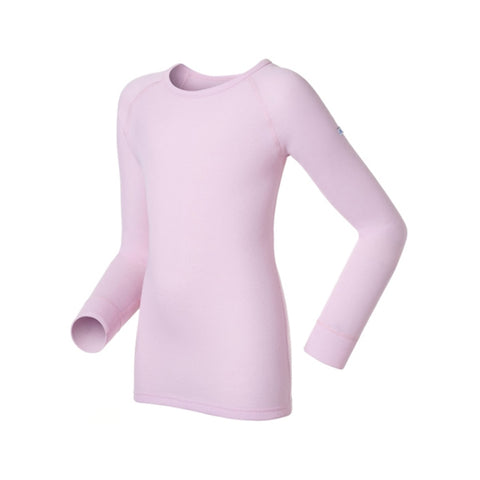Odlo Kids Warm Thermal Long Sleeve Crew Neck Top Pink