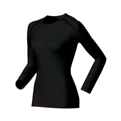 Odlo Ladies Warm Thermal Long Sleeve Crew Neck Top Black