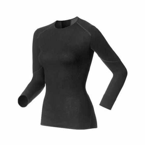 Odlo Ladies X-Warm Thermal Long Sleeve Crew Neck Top Black