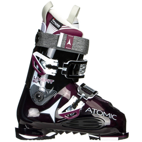 Atomic Women's Live Fit 90 W ski boots in Black and Purple