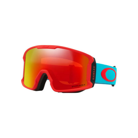 Oakley Line Miner XM Goggles Carribean Sea Red Prizm Torch Iridium