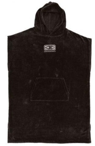 Ocean and Earth Corp Hooded Black Poncho one size