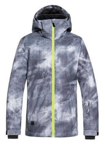Quiksilver Mission Pr Youth Snow Jacket Grey Simple Texture