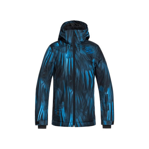 Quiksilver Mission Print Snow Jacket Boys Daphne Blue Stellar