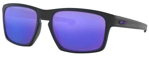 Oakley Sliver in Matte Black with Violet Iridium Polarized Lens