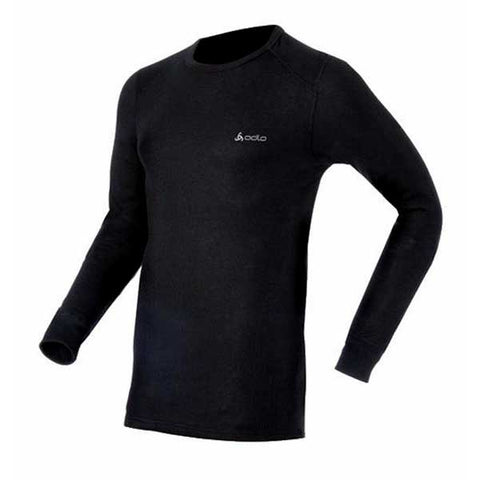 Odlo Mens Warm Thermal Long Sleeve Crew Neck Top Black