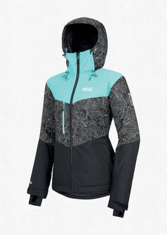 Picture Organic Clothing Women's Week End Snow Jacket in Turquoise Black