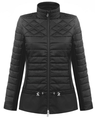 Poivre Blanc 1250-WO Hybrid Quilted Jacket in Black