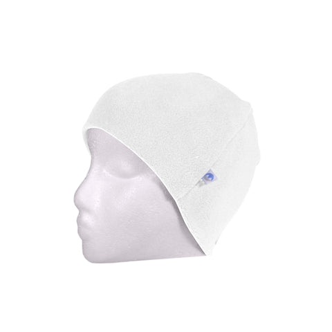 Fleece Beanie Hat - Winter White
