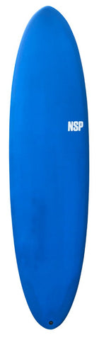 "NSP Protech Fun 7'6"" Surf Board in Navy Tint FTU"