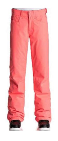Roxy Backyards Girls Ski Trousers Neon Grapefruit