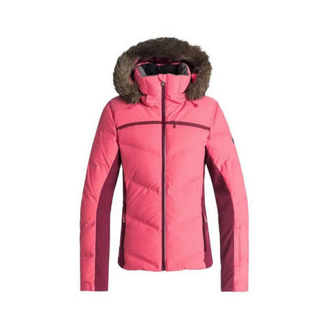 Roxy Snowstorm Quilted Snow Jacket for Women Teaberry