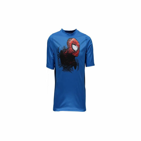 Spyder Kids Marvel Havoc Short Sleeve Tech T Shirt in Blue