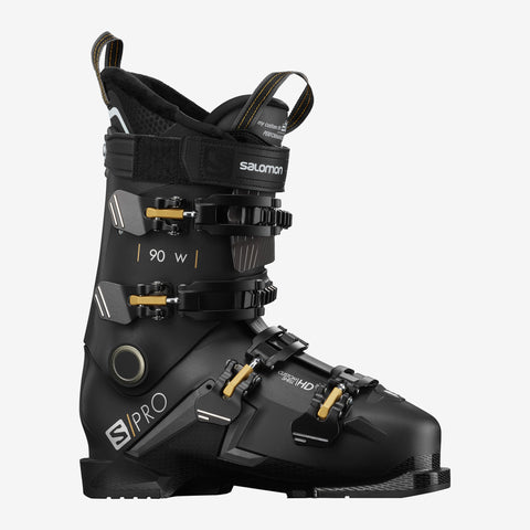 Salomon S PRO 90 Women's ski boots in Black and Gold