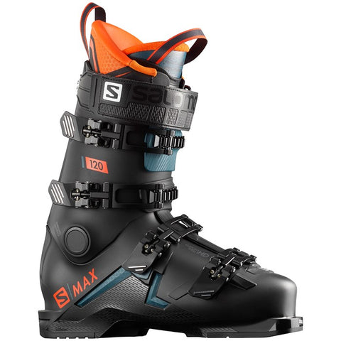 Salomon S Max 120 men's ski boots in Black and Orange