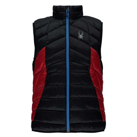 Spyder Geared Vest Synthetic Down Black with Red