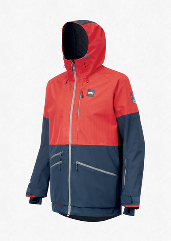 Picture Organic Clothing Men's Stone Snow Jacket in Red Dark Blue