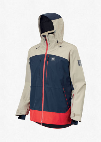 Picture Organic Clothing Men's Track Snow Jacket in Dark Blue