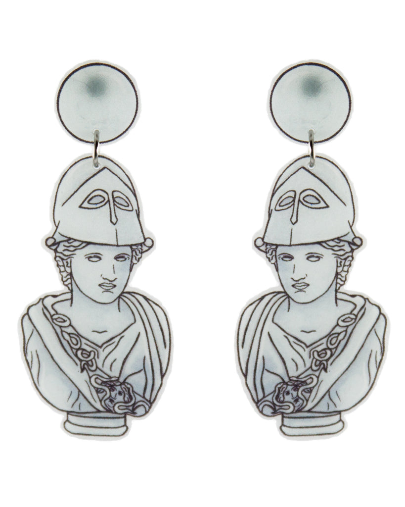 Busy Head Athena Bust Studded Earrings