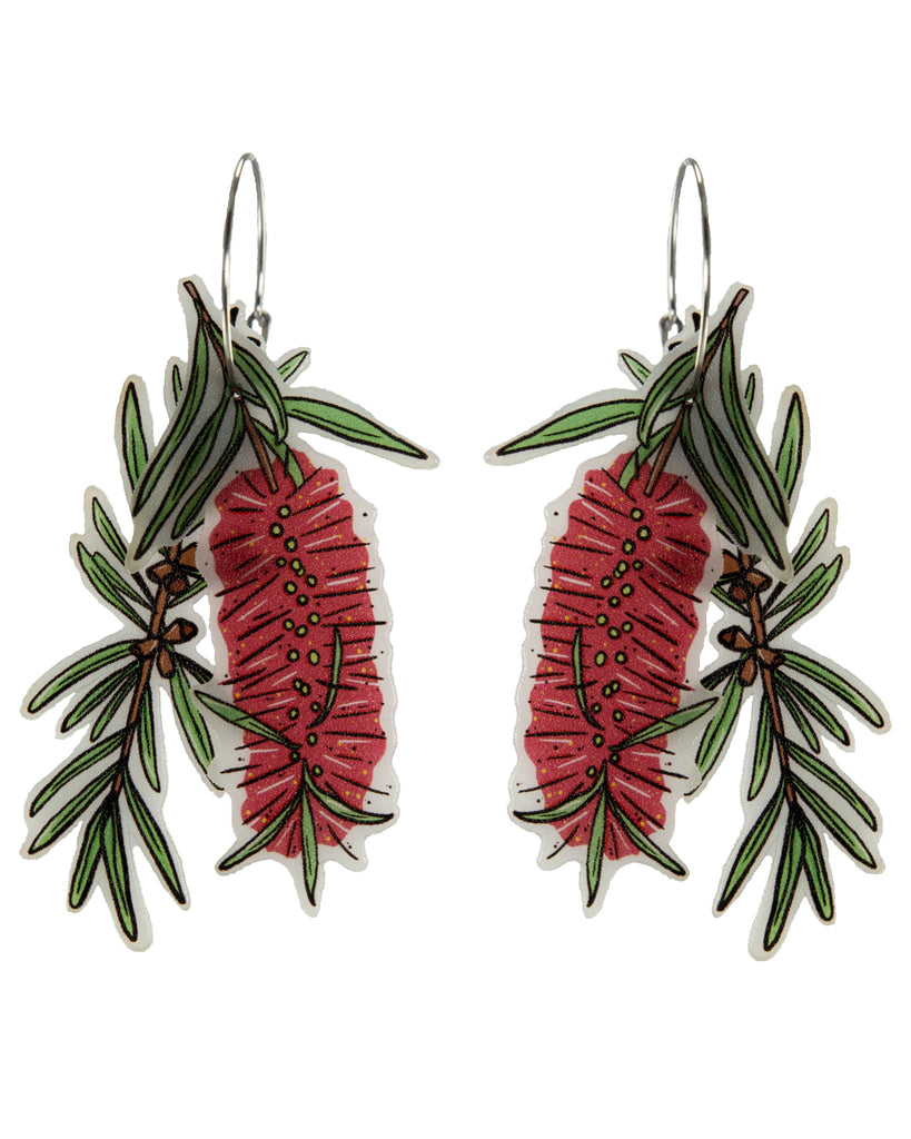 Busy Head Bottle Brush Statement Hoops
