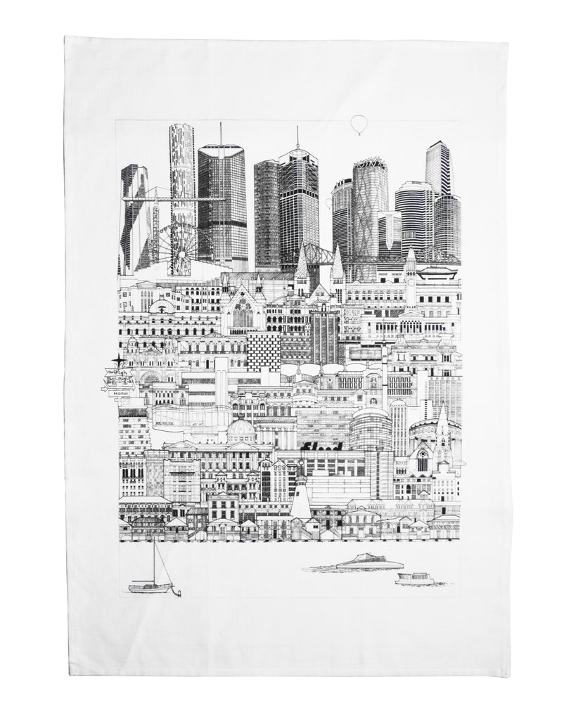 MoB x Brisbane Cityscape Tea Towel