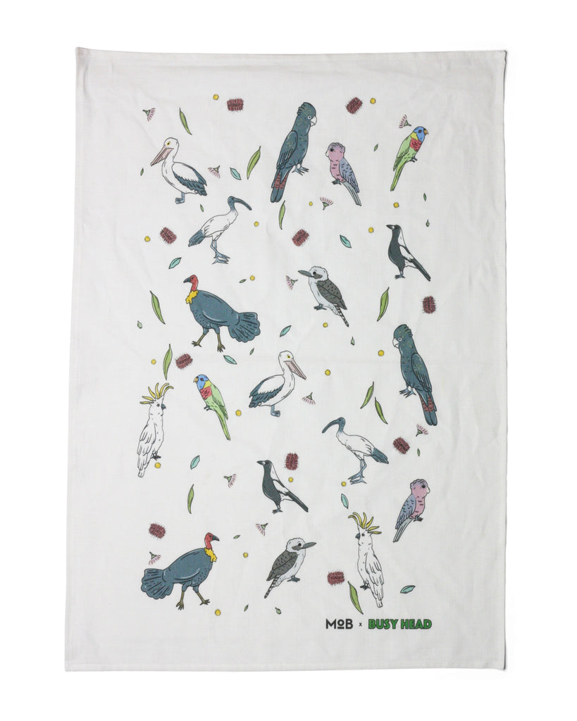 MoB x Busy Head Bird Tea Towel