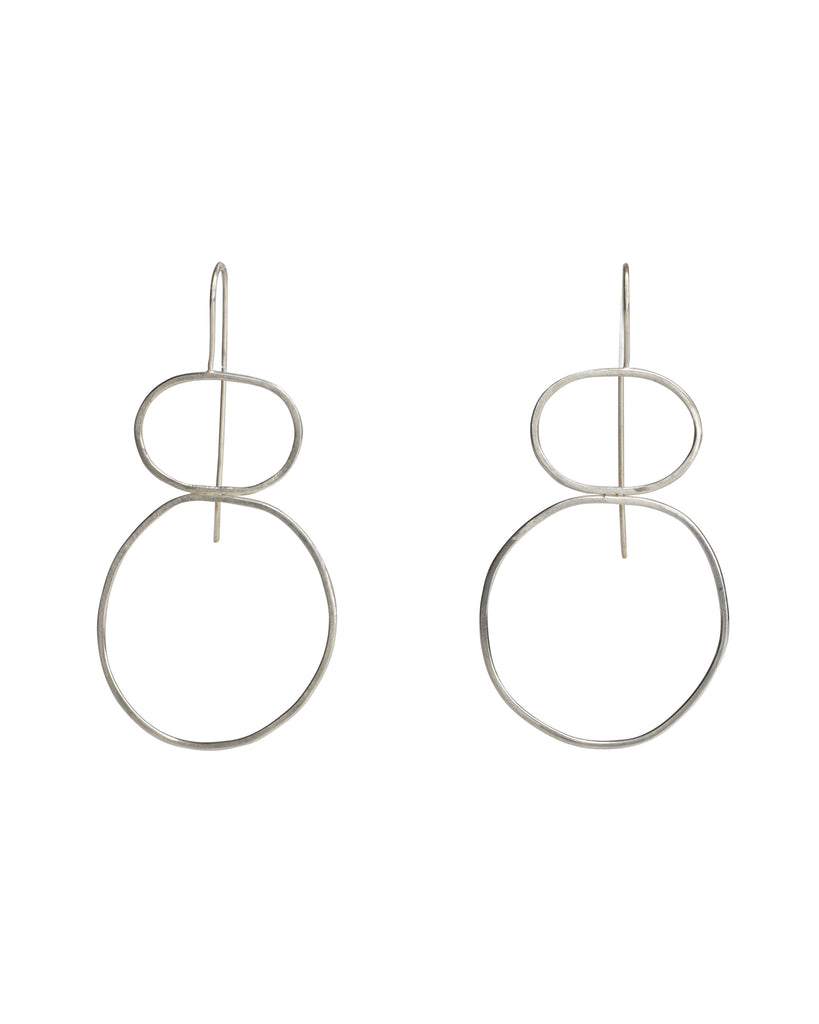 Chloe Waddell Sterling Silver Frame Earrings #4