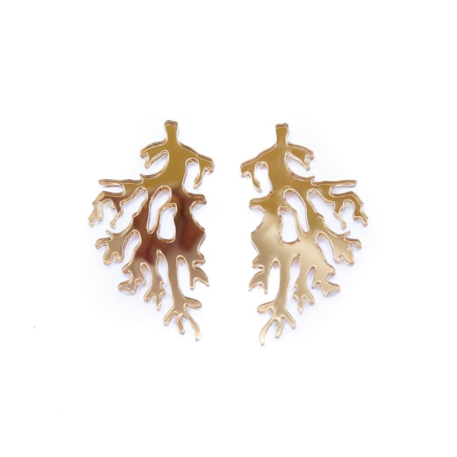 Concrete Jellyfish Midi Coral Earrings