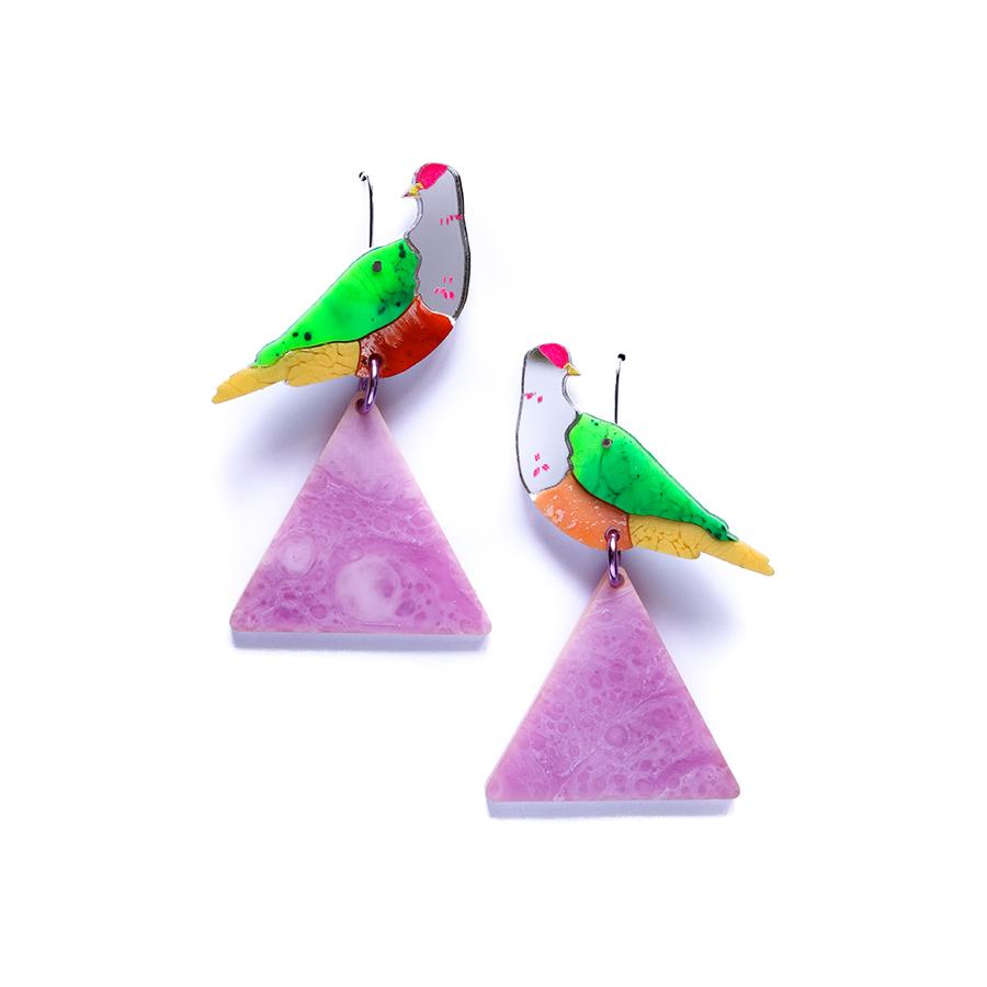 Concrete Jellyfish Fruit Dove Earring