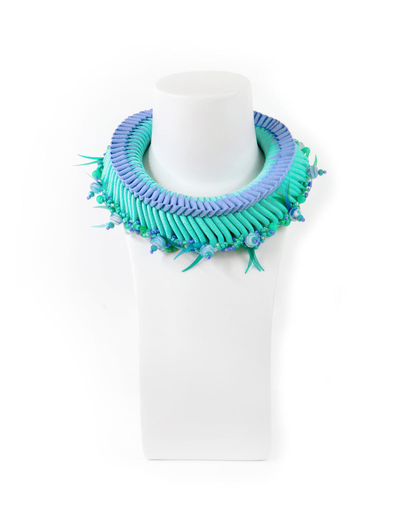 Grace Lillian Lee Single Beaded Weave Necklace
