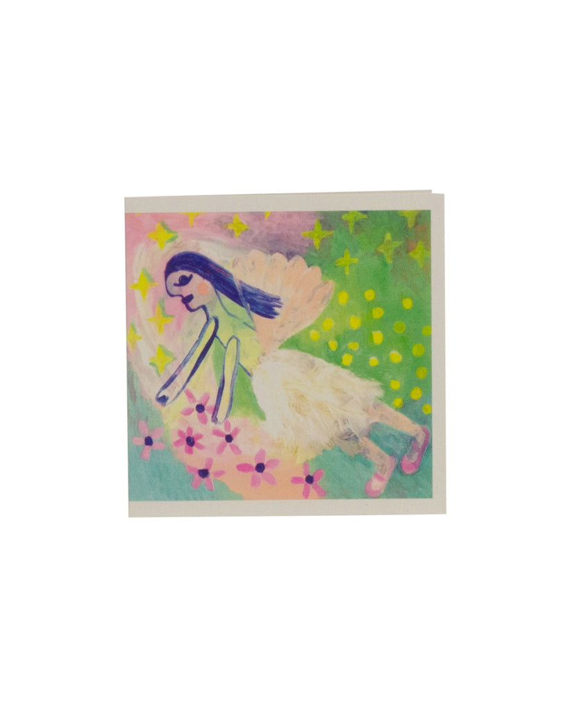 Nadine Sawyer Angel with Stars and Flowers Greeting Card