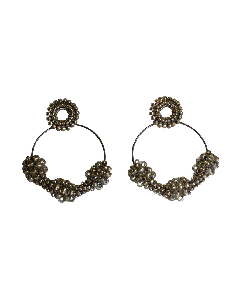 Paula Dunlop Pulses Dark Gold Clip-On Hoops