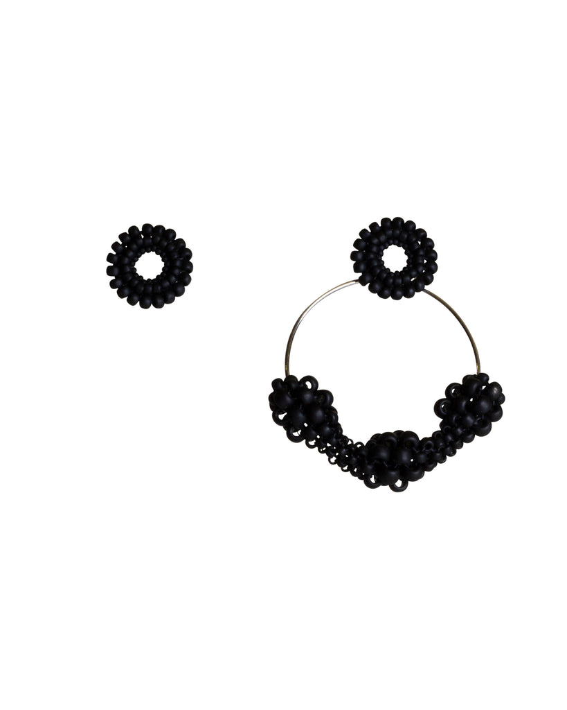 Paula Dunlop Pulses Black Earrings Clip-On Hoops