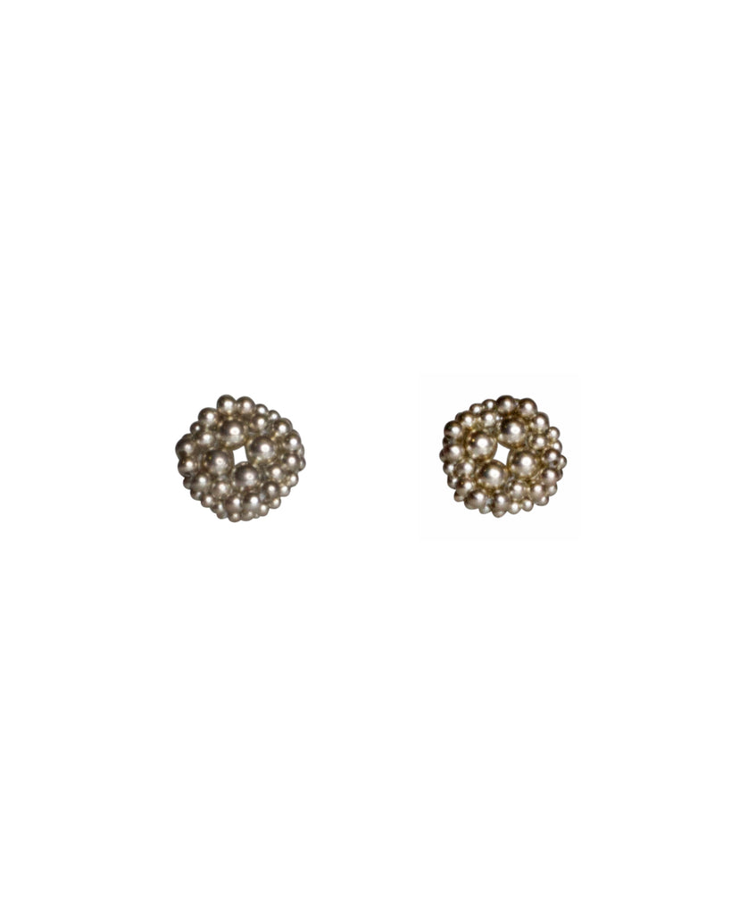 Paula Dunlop Cluster Solid Silver Clip-Ons