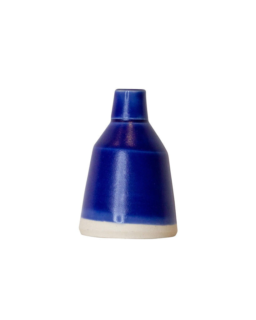 Hiroaki Eba Ceramic Vase for Tiny Flowers BLUE BOTTLES