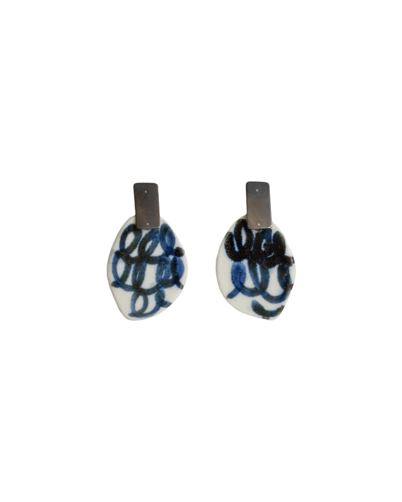 Julie Smeros Porcelain Oxidised Earrings #1