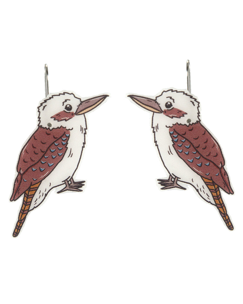 Busy Head Kookaburra Earrings