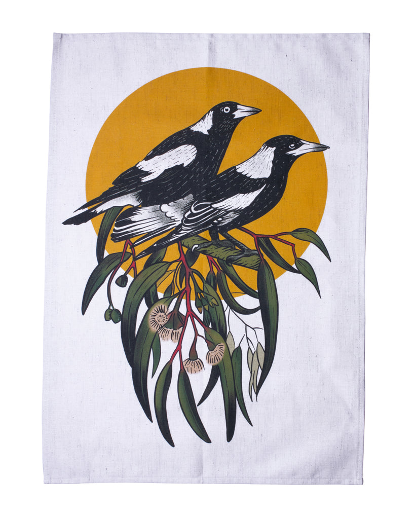 Moonshine Madness Tea Towel Magpie